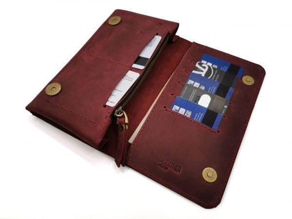 Модный красный кошелек BNZ-313