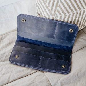 Модный синий кошелек BNZ-1887