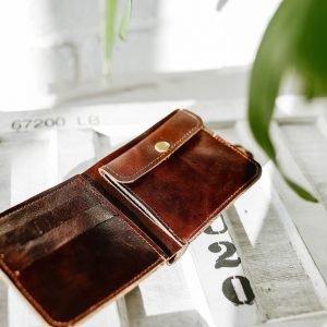 Кожаный кошелек с защитой rfid BNZ-4173