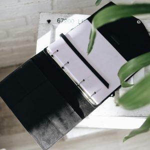 Модный черный ежедневник BNZ-4210