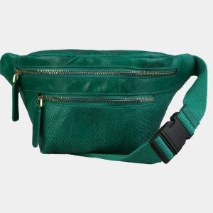 Вместительная зеленая женская сумка на пояс ATS-3104
