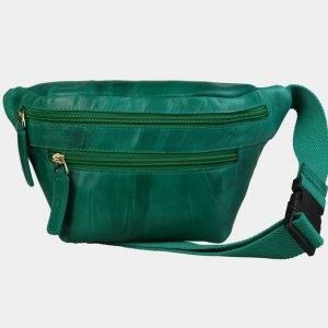 Вместительная зеленая женская сумка на пояс ATS-3105
