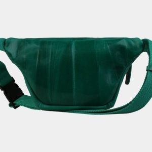 Кожаная зеленая женская сумка на пояс ATS-3105 213480
