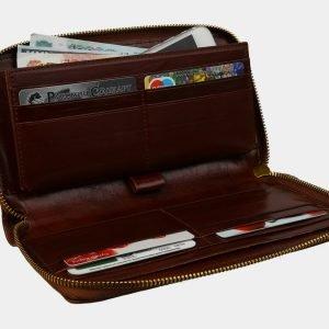 Кожаный светло-коричневый портмоне ATS-3083 213563