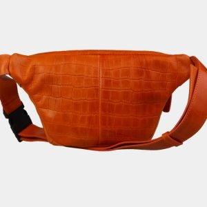 Кожаная оранжевая женская сумка на пояс ATS-3107 213475