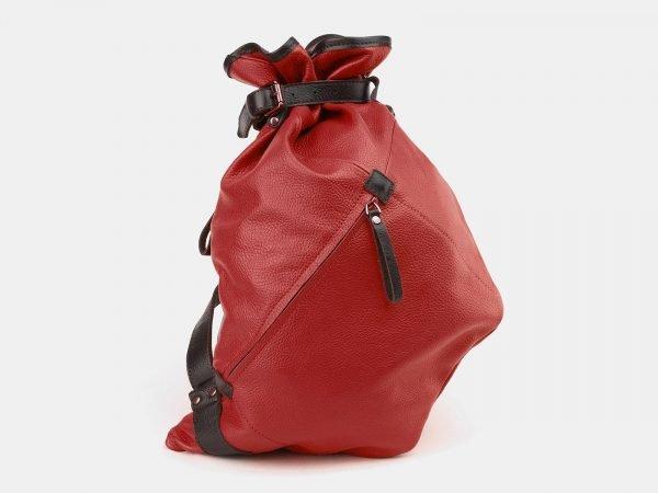 Деловой красный рюкзак кожаный ATS-3864