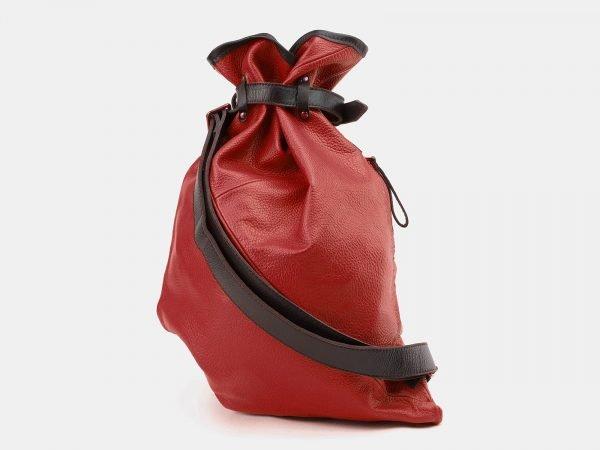 Солидный красный рюкзак кожаный ATS-3864