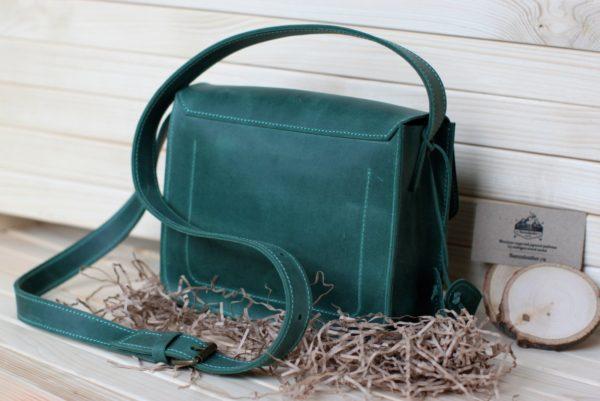 Солидная зеленая сумка BNZ-2493