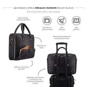 Стильная черная мужская сумка трансформер через плечо BRL-23166