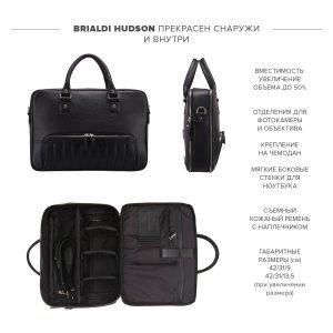 Стильная черная мужская сумка трансформер через плечо BRL-23166 224974