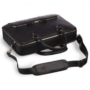 Стильная черная мужская сумка трансформер через плечо BRL-23166 224977