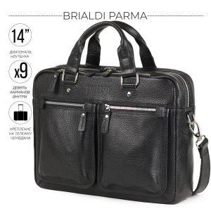 Деловой черный мужской портфель деловой BRL-34109