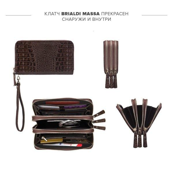 Кожаная коричневая мужская сумка для мобильного телефона BRL-23064