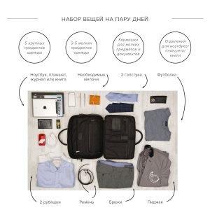 Стильная черная мужская сумка трансформер через плечо BRL-23166 224976