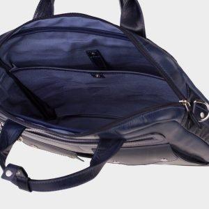 Кожаный синий мужской портфель ATS-1611