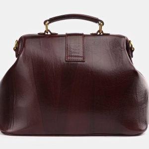 Солидная бордовая сумка с росписью ATS-3933 225046