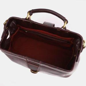Солидная бордовая сумка с росписью ATS-3933 225047