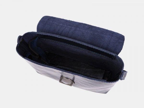 Кожаный синий женский клатч ATS-3958