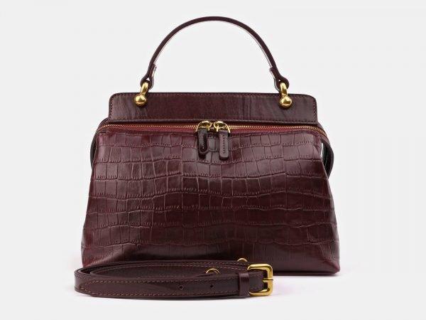 Удобная бордовая женская сумка ATS-3389