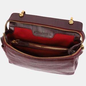 Удобная бордовая женская сумка ATS-3389 224789