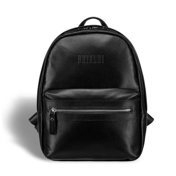 Кожаная черная женская сумка BRL-17480
