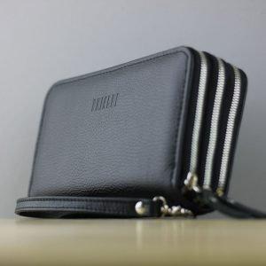 Модная черная мужская сумка для мобильного телефона BRL-23062