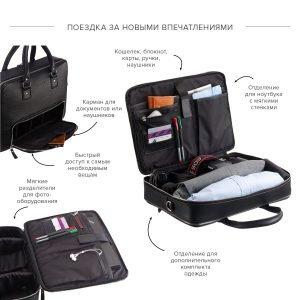 Стильная черная мужская сумка трансформер через плечо BRL-23166 224973