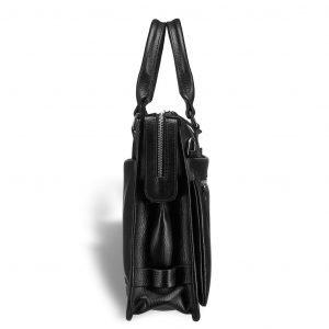 Деловая черная мужская кожгалантерея BRL-12042