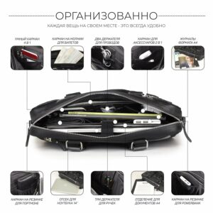 Удобный черный мужской портфель деловой BRL-34109 226627