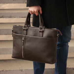 Стильная коричневая мужская классическая сумка BRL-44559 226830