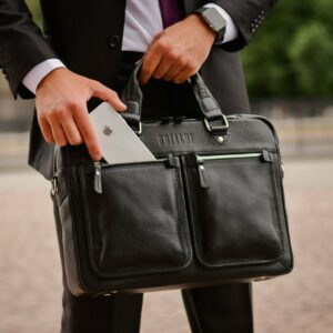 Удобный черный мужской портфель деловой BRL-34109 226638