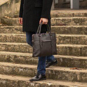 Уникальная коричневая мужская сумка для документов BRL-44551 226730
