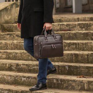 Солидный коричневый мужской портфель деловой BRL-44549 226705
