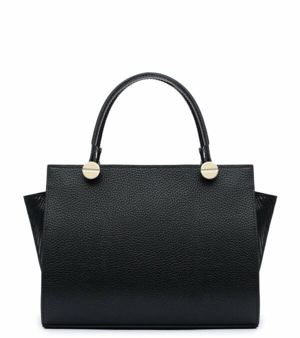Кожаная черная женская сумка FBR-2372
