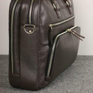 Солидный коричневый мужской портфель деловой BRL-44549 226701