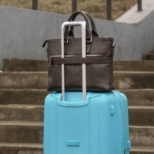 Стильная коричневая мужская классическая сумка BRL-44559 226824