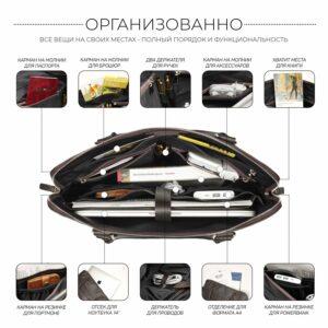 Уникальная коричневая мужская сумка для документов BRL-44551 226717