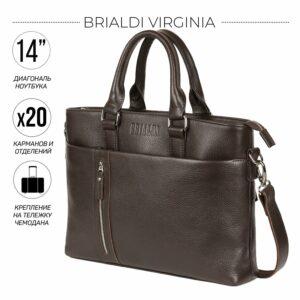 Стильная коричневая мужская классическая сумка BRL-44559