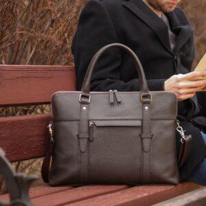 Уникальная коричневая мужская сумка для документов BRL-44551 226745