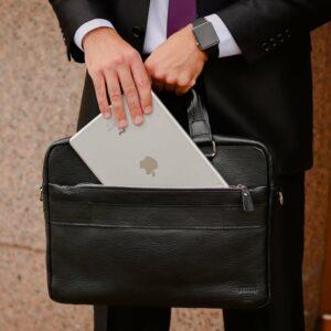 Удобный черный мужской портфель деловой BRL-34109 226640