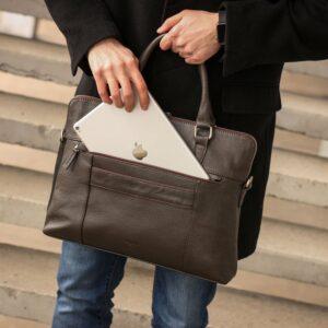 Уникальная коричневая мужская сумка для документов BRL-44551 226740