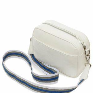 Стильная белая женская сумка через плечо FBR-2633