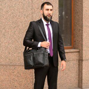 Удобный черный мужской портфель деловой BRL-34109 226644