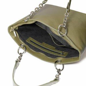 Солидная желтовато-зелёная женская сумка FBR-2636