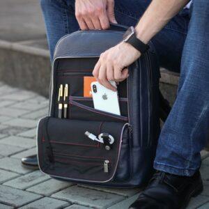 Солидный синий мужской деловой рюкзак BRL-45821 226912