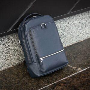 Солидный синий мужской деловой рюкзак BRL-45821 226893