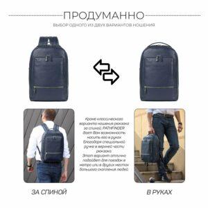 Солидный синий мужской деловой рюкзак BRL-45821 226911