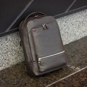 Модный коричневый мужской деловой рюкзак BRL-45820 226867