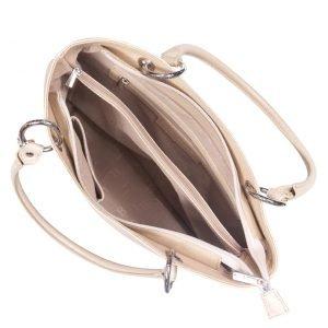 Солидная бежевая женская сумка FBR-1215