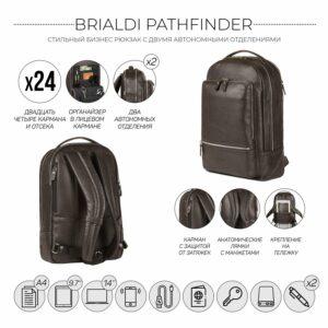 Модный коричневый мужской деловой рюкзак BRL-45820 226865